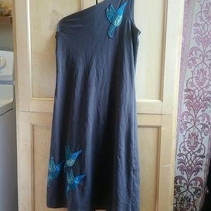 Synergy Organic Hummingbird Dress, Free Earrings